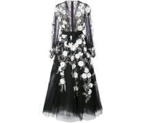 Verziertes Abendkleid - Schwarz