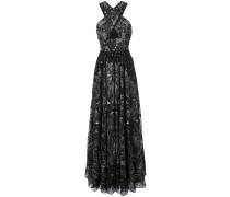 Abendkleid mit Pailletten - Schwarz