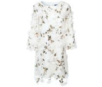 Kleid mit floralen Applikationen - Weiß