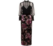 Kleid mit Pailletten - Schwarz