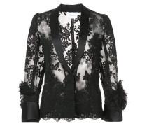 sheer lace shirt - Schwarz