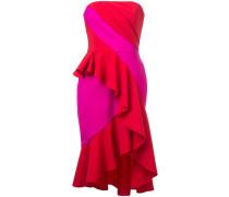 Trägerloses Kleid - Rot