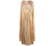 Robe mit plissiertem Detail - Gold