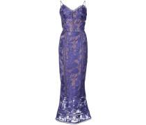Besticktes Kleid - Blau