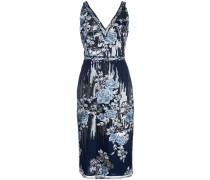 Schmales Paillettenkleid - Blau