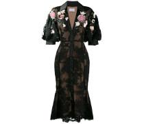 Kleid mit Blumenmuster - Schwarz