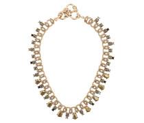Vergoldete Halsketten mit Glassteinen - Metallisch