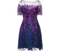Kleid mit floraler Spitze - Lila