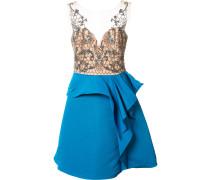 Kleid mit besticktem Top - Blau