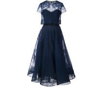 Kleid mit Tülllage - Blau