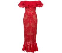 Kleid aus Spitze - Rot