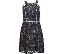 Kleid mit floraler Stickerei - Blau