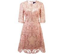 Besticktes Kleid mit Spitze - Rosa