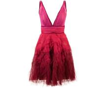 Kleid mit Rüschen - Rot
