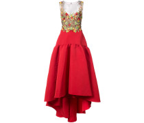 floral detail ball gown - Rot