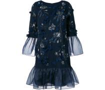Kleid mit Perlenstickerei - Blau