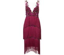 Kleid mit Fransen - Rosa