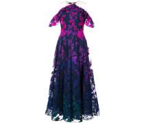 invisible strap detail dress - Blau