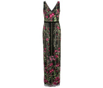 Kleid mit Perlenstickerei - Schwarz