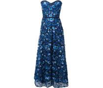 Schulterfreies Abendkleid - Blau