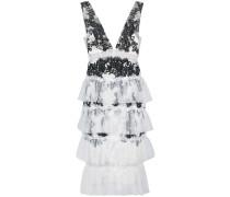 Besticktes Kleid im Lagen-Look - Weiß