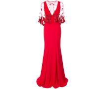 Kleid mit Cape - Rot