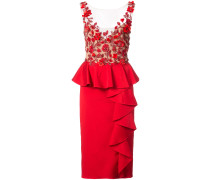 embellished poppy dress - Rot