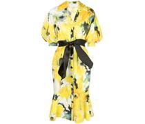 Klassisches Hemdkleid - Gelb