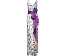 Kleid mit Schleife - Weiß