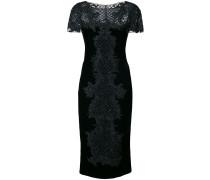 Verziertes Kleid mit engem Schnitt - Schwarz