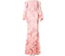 off-the-shoulder floral gown - Rosa & Lila