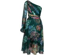 Kleid mit Blumenmuster - Grün