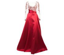 Ausgestelltes Empire-Kleid - Rot