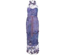 Langes Kleid mit Applikationen - Lila