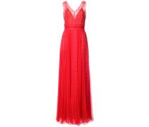 Abendkleid mit V-Ausschnitt - Rot