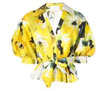 Bluse mit Blumen-Print - Gelb