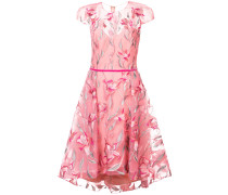 floral embroidered flared dress - Rosa & Lila