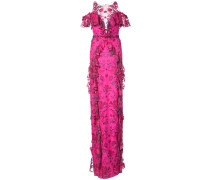 Florales Abendkleid - Rosa