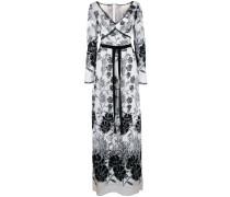 Kleid mit Blumenstickerei - Weiß
