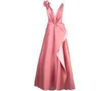 Abendkleid mit Blumenapplikation - Rosa