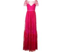 Robe mit Spitze - Rosa