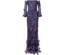 Schulterfreies Kleid - Blau