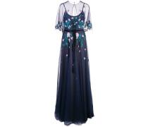 Abendkleid mit Cape - Blau