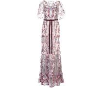 Kleid mit Pailletten - Lila
