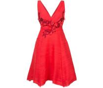 Verziertes Kleid - Rot