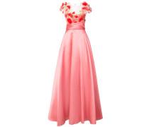 Abendkleid mit Blütenapplikation - Rosa & Lila