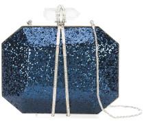 Clutch mit Pailletten - Blau
