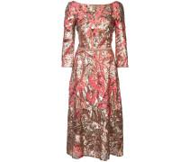 Kleid mit floraler Paillettenstickerei - Rosa
