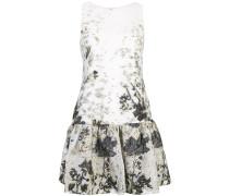 Kleid mit gerüschtem Saum - Weiß