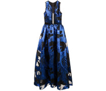 Midikleid mit Cut-Out - Blau